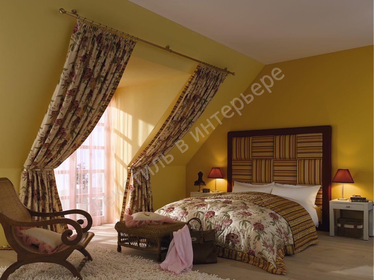 Дизайн штор для мансарды
