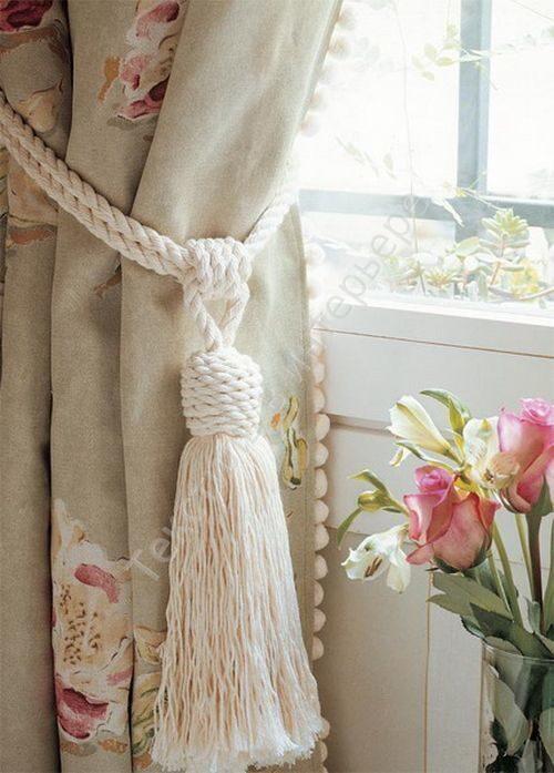 Как сделать подхват с кистью для штор