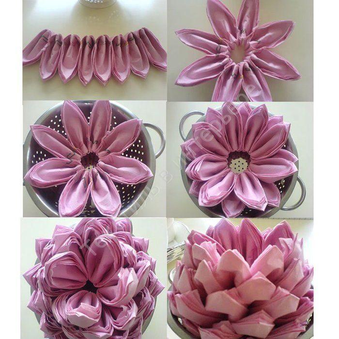 Цветок из салфеток своими руками для сервировки стола