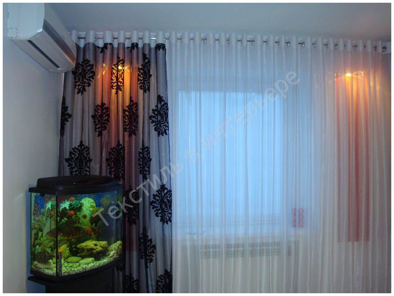 шторы на люверсах фото мастер класс
