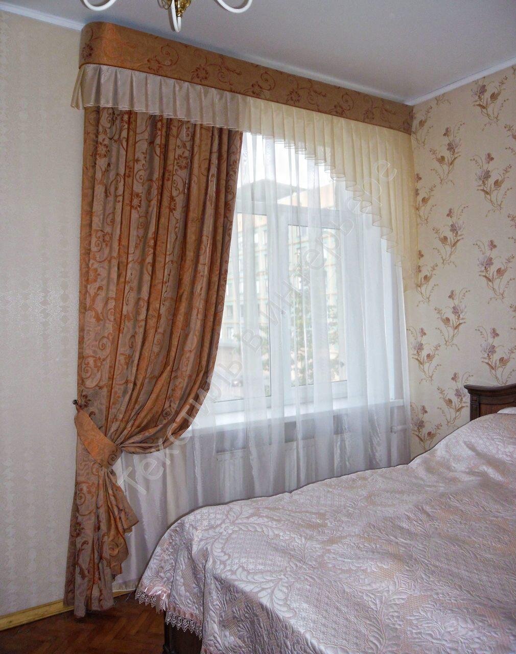 Дизайн штор в спальню своими руками фото